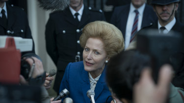Gillian Anderson as a raspy-voiced Margaret Thatcher in 'The Crown': The Iron Lady didn't believe in using sanctions to exert political pressure.