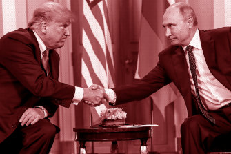 Trump and Vladimir Putin: the Mueller probe is investigating Russian interference in the 2016 US elections.