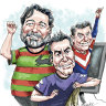 Magnates drawn together by the footy