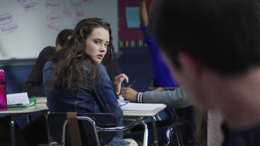 Katherine Langford in the Netflix series 13 Reasons Why.