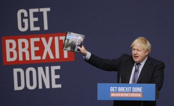 A buccaneer of free trade in a time of growing trade protectionism: Britain's Prime Minister Boris Johnson.