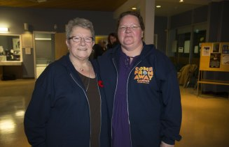 Residents Beulah Cooper and Diane Davis.