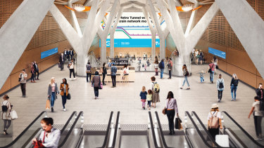 The design for the new Town Hall station on the Metro Tunnel.