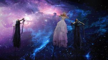 Kate Miller-Heidke performs <i>Zero Gravity</i> at the 2019 Eurovision in Tel Aviv.