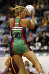 Julie Corletto - then Prendergast - in action for the Vixens in 2008.