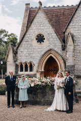 Two pictures from Princess Beatrice's wedding were released by the royal family, neither featuring Prince Andrew, the bride's father.