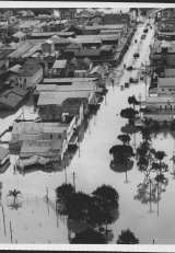 Main street of Lismore flooded, Sunday afternoon, June 25, 1950