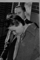 Accused murderer Sandra Andre Kane Willson outside court on June 10, 1959