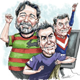 Actor Russell Crowe, wagering millionaire Matt Tripp and cars king Nick Politis.