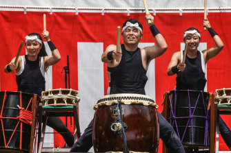 Wadaiko Rindo drummers will perform at the Matsuri festival in Darling Harbour.