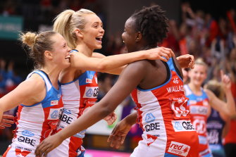 The coronavirus crisis has put the NSW Swifts' Super Netball title defence on hold.