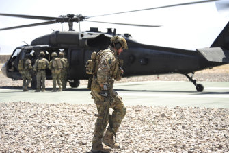 Ben Roberts-Smith with the SAS in Uruzgan province, Afghanistan.