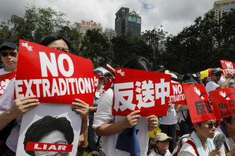 Protests against proposed extradition laws on June 9.