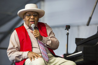 Ellis Marsalis during the New Orleans Jazz and Heritage Festival.