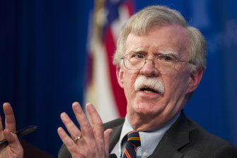 Former Trump administration national security adviser John Bolton.