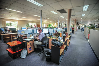 The interior of the Pirie Street offices.