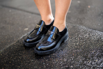 A chunky loafer is a simple nod to the '70s.