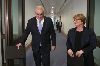 Prime Minister Scott Morrison and Minister for Defence Linda Reynolds announce a special investigator for war crimes on Thursday.