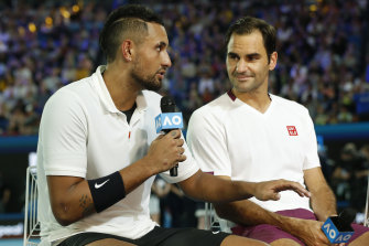 Fans saw a different side to Kyrgios early last year as the Australian summer of tennis took place amid a backdrop of deadly bushfires.