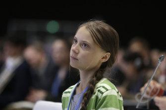 Swedish climate activist Greta Thunberg in Madrid last week.