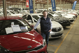 Liam Baverstock, branch manager of Pickles in Canberra, has seen prices surging for used cars.