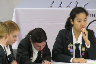 The Ethics Olympiad draws teams from independent, Catholic and public schools.