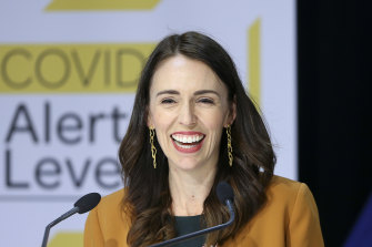 Ahead in the polls: Prime Minister Jacinda Ardern.