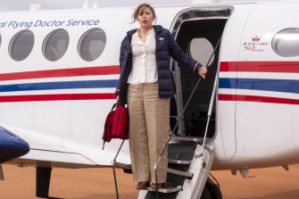 Shock of the new: Emma Hamilton plays Eliza Harrod, a doctor who relocates from London to Broken Hill in RFDS.