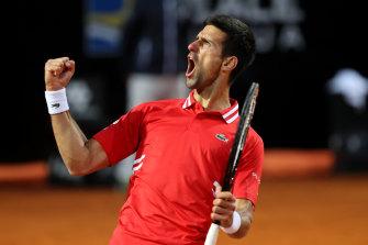 Novak Djokovic proved too good for Lorenzo Sonego in their semi-final in Rome.