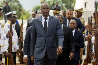 Haiti's President Jovenel Moise, pictured in 2018, has been assassinated at his home.