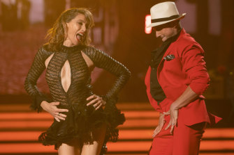 Great telly: Claudia Karvan on Dancing With the Stars.