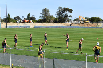 Adelaide players returned to group training on Monday after breaking training protocols in recent weeks.