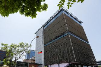 The 17-storey Arthur Phillip High School in Parramatta opened last year.
