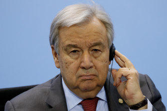 "UN Secretary-General Antonio Guterres said the world was not winning the ""war"" against COVID-19."