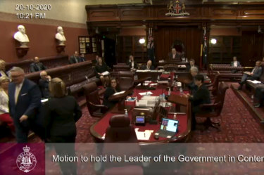 NSW government dealt embarrassing blow as leader kicked out of upper house