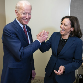 Biden and Harris as running mates last August.