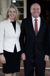 Barnaby Joyce is encouraging Bridget McKenzie to run for the Nationals in Indi.