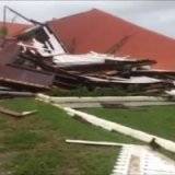 Parliament House in Tonga was virtually destroyed by Cyclone Gita.