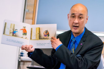 Principal John Goh spends more time in the classroom than many principals are able to manage.
