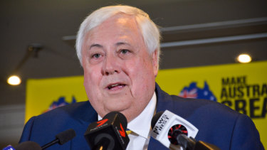 Clive Palmer appears to have missed out on a Senate spot despite a big-spending campaign.