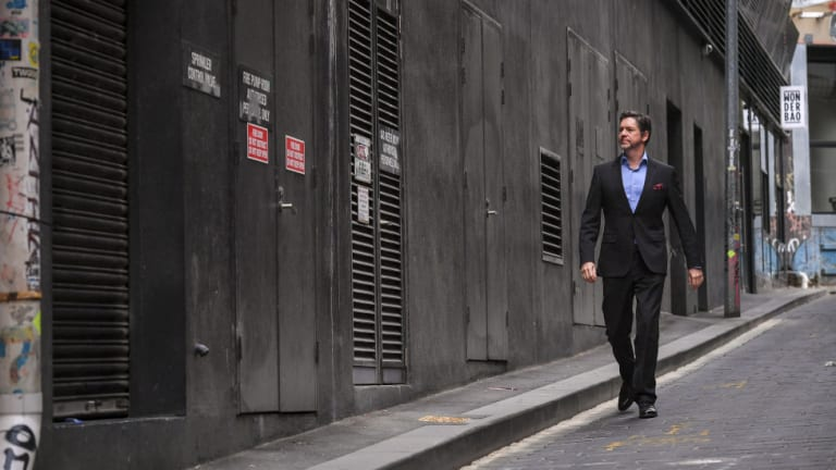 Melbourne councillor Nick Reece on Literature Lane, where he says services have ruined what might have otherwise been a more interesting place.