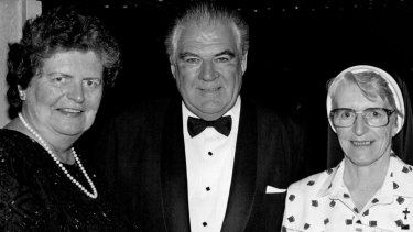 Former Queensland Governor Leneen Ford, her husband Angus McDonald and Sister Angela in 1994.
