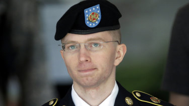 A  2013 file photo of Army Private Chelsea Manning, then-Army Pfc. Bradley Manning.
