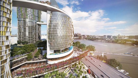 Queen's Wharf accused of bringing 'hostile architecture' to Brisbane