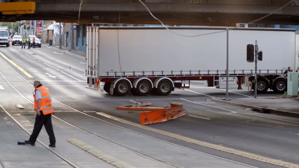 Traffic chaos finally cleared after truck brought down tram lines