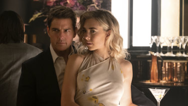Tom Cruise, left, and Vanessa Kirby in a scene from <i>Mission: Impossible - Fallout.</i> (Chiabella James/Paramount Pictures and Skydance via AP)
