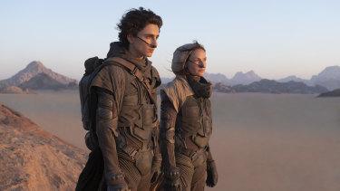 Timothee Chalamet and Rebecca Ferguson star in Dune, premiering at Venice Film Festival in September.