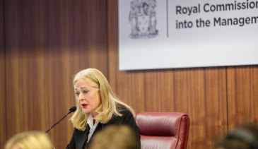 Commissioner Margaret McMurdo who is leading the royal commission into police informers.