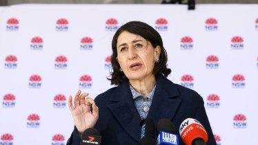 Gladys Berejiklian has toughened lockdown rules after a surge in new cases and exposure sites.