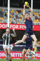 The Demons marked a commanding win over the Magpies on Saturday.